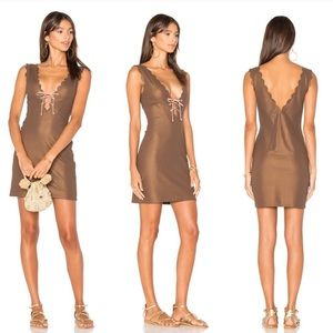 Marysia Swim Amagansett Tie Dress Metallic Brown
